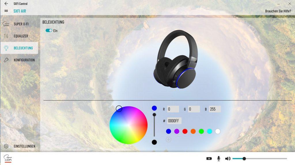 Creative SX-FI Air RGB Beleuchtung